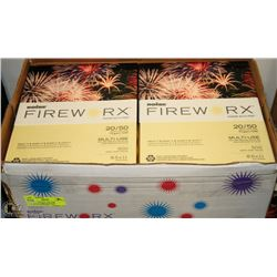 CASE OF CANARY YELLOW FIREWORK PAPER