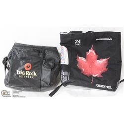 "2 COOLER BAGS ""BIG ROCK"" AND ""MOLSON CANADIAN"""