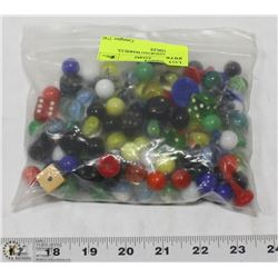 BAG OF ASSORTED MARBLES.  COLLECTIBLES
