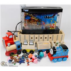 KIDS WOOD TOYS WITH FISH NIGHT LIGHT AND THOMAS