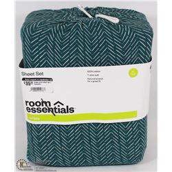 ROOM ESSENTIAL TWIN XL JERSEY SHEET SET