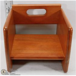 NEW TABLECRAFT WALNUT BOOSTER SEAT