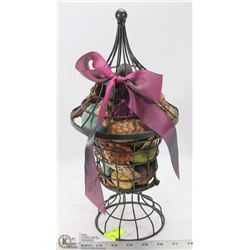 WROUGHT IRON FALL POTPORRI LANTERN