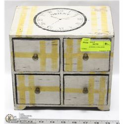 PAINTED SUNDIAL 4 DRAWER CUBBY