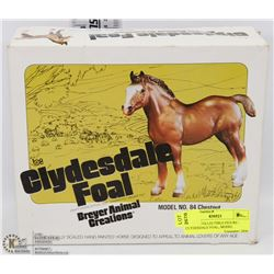 BREYER COLLECTIBLE FIGURE - CLYDESDALE FOAL, MODEL