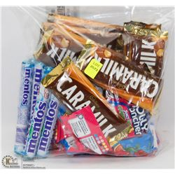 BAG OF ASSORTED CHOCOLATE BARS AND CANDY