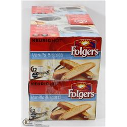 6 BOXES OF FOLGERS K-CUPS