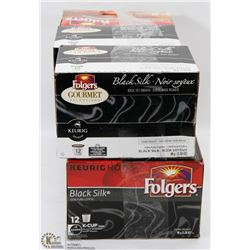 6 ASSORTED BOXES OF FOLGERS K-CUPS