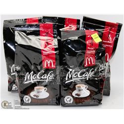 5 BAGS OF MCAFE DARK ROAST WHOLE BEANS
