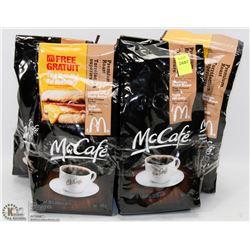5 BAGS OF MCAFE MEDIUM ROAST FINE GROUND COFFEE
