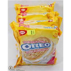 6 PACKS OF OREO DOUBLE CREAM GOLDEN COOKIES