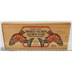 CEDAR B.C. PACIFIC COAST SALMON STORAGE BOX -