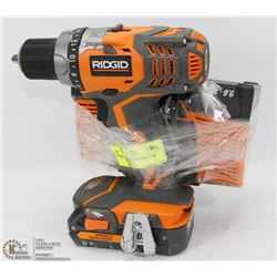 RIDGID DRILL WITH BATTERY & CHARGERS