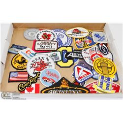 FLAT OF VARIOUS PATCHES.