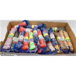 FLAT OF ASSORTED MULTI PURPOSE UTILITY ROPE