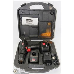 JOBMATE DRILL SET IN HARDCASE WITH BATTERY AND