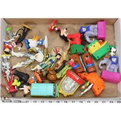 FLAT OF ASSORTED COLLECTIBLE DISNEY TOYS