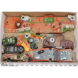 FLAT OF ARMY TOYS