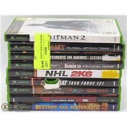 9 ORIGINAL X BOX GAMES