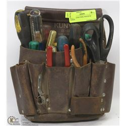 ELECTRICIAN TOOL POUCH W/ TOOLS
