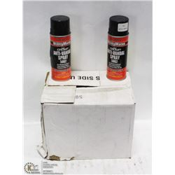CASE OF 12 CANS OF ANTI-VANDAL MARKING PAINT.