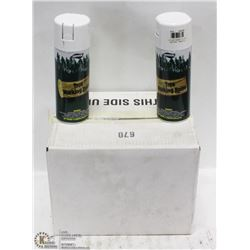 CASE OF 12 CANS OF  WHITE TREE MARKING PAINT.
