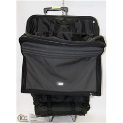 DRESS SUITCASE  AND ROLLING CANVAS LAPTOP BAG.