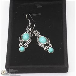 TURQUOISE FASHION EARRINGS