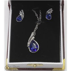 CRYSTAL FASHION BLUE NECKLACE