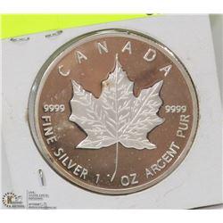 33)2013- $5 DOLLAR 1 OUNCE SILVER MAPLE LEAF COIN