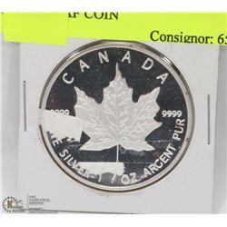 36)2013- $5 DOLLAR 1 OUNCE SILVER MAPLE LEAF COIN