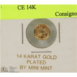 10) COLLECTORS MINIATURE $20.00 GOLD PIECE 14K