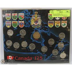 20)1992 CANADA  125 COMMEMORATIVE PROVINCIAL COIN