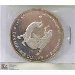 1988 CANADIAN MAURICE IRON WORKS SILVER DOLLAR