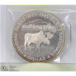 1985 CANADIAN NATIONAL PARKS SILVER DOLLAR 25GRAMS