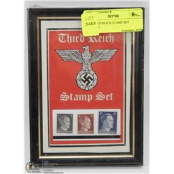 69) THIRD REICH STAMP SET FRAMED