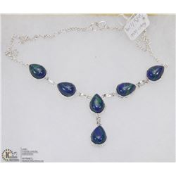 #45-NATURAL RAINBOW CALSILICA GEMSTONE NECKLACE