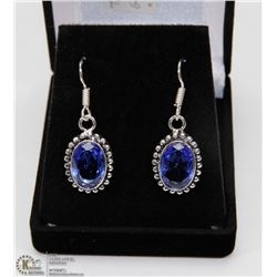 #54-TANZANITE GEMSTONE EARRINGS