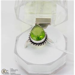 #92-GREEN PERIDOT GEMSTONE RINGS
