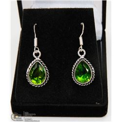 #90-GREEN PERIDOT GEMSTONE EARRINGS