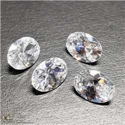 188) 4 CUBIC ZIRCONIA, OVALS, APPROX 5 CTS