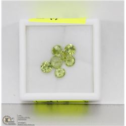 190) GENUINE PERIDOTS, 4,5,6MM ROUNDS, APPROX