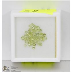 148) GENUINE PERIDOTS, 2-4MM ROUNDS, APPROX 4 CTS