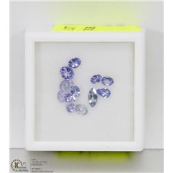 163) TANZANITES, ASSORTED SHAPES & SIZES, APPROX
