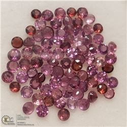 122) GENUINE GARNETS, 2MM ROUNDS, APPROX 4 CTS
