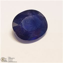 141) ENHANCED BLUE SAPPHIRE, OVAL, APPROX 9 CTS