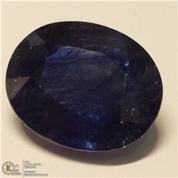 170) ENHANCED BLUE SAPPHIRE, OVAL, APPROX 9 CTS
