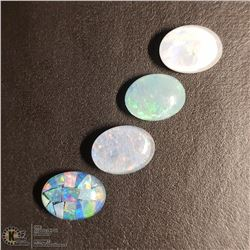 167) GENUINE OPAL TRIPLETS, OVALS, APPROX 4 CTS