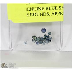 164) GENUINE BLUE SAPPHIRES, 2-4MM ROUNDS, APPROX