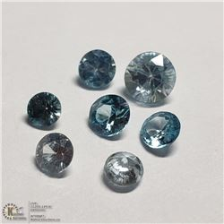 189) NATURAL RARE BLUE ZIRCON, ROUNDS, APPROX